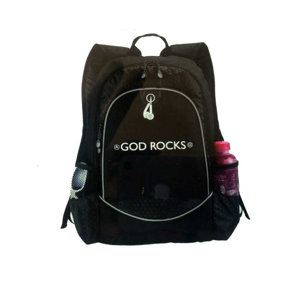 God Rocks Backpack Closed